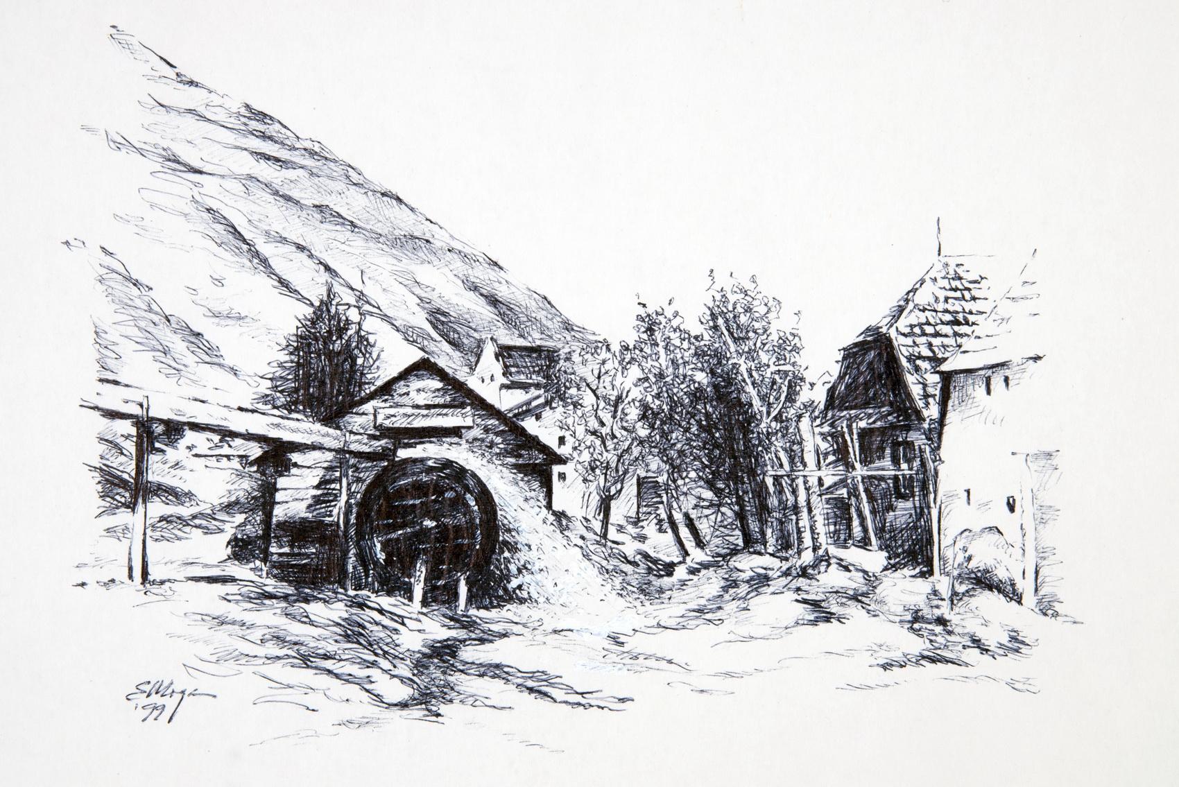 Moulins du département de Brasov, Roumanie